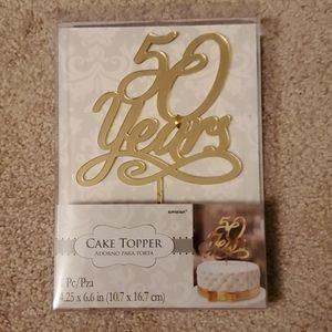 Cake Topper 50 Years 50th Wedding Anniversary